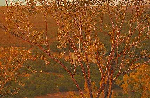golden dusk over Katherine Gorge