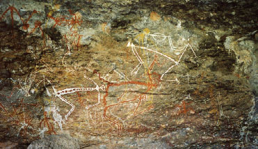 Aborigine art at Ubirr (supposed to be over 20.000 years old)