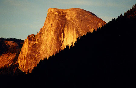 Half Dome at sunset